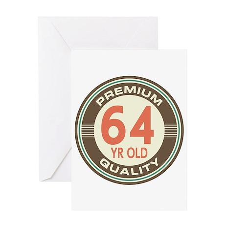 64th Birthday Vintage Greeting Card