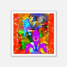 "Science Disco Cupid Square Sticker 3"" x 3"""