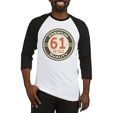 61st Birthday Vintage Baseball Jersey