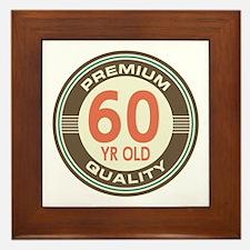 60th Birthday Vintage Framed Tile