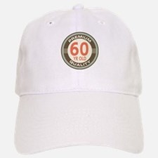 60th Birthday Vintage Baseball Baseball Cap