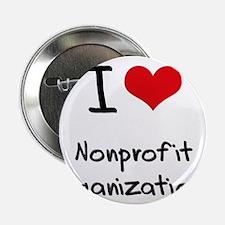 """I Love Nonprofit Organizations 2.25"""" Button"""