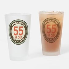 55th Birthday Vintage Drinking Glass