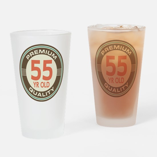 55th Birthday Vintage Drinking Glass