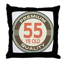 55th Birthday Vintage Throw Pillow