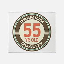 55th Birthday Vintage Throw Blanket