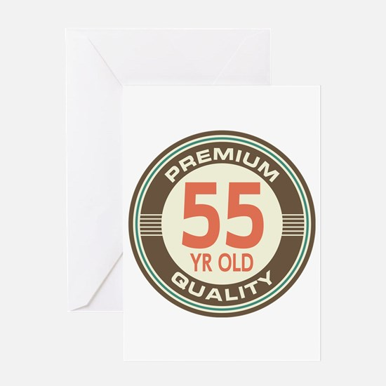 55th Birthday Vintage Greeting Card