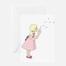 Blowing Dandelion Greeting Card