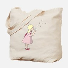 Blowing Dandelion Tote Bag