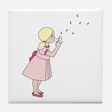 Blowing Dandelion Tile Coaster