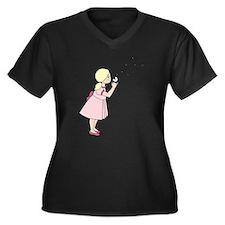 Blowing Dandelion Plus Size T-Shirt