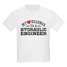 My Heart Belongs To A Hydraulic Engineer T-Shirt