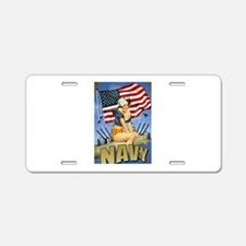5 Military Pin Ups Aluminum License Plate