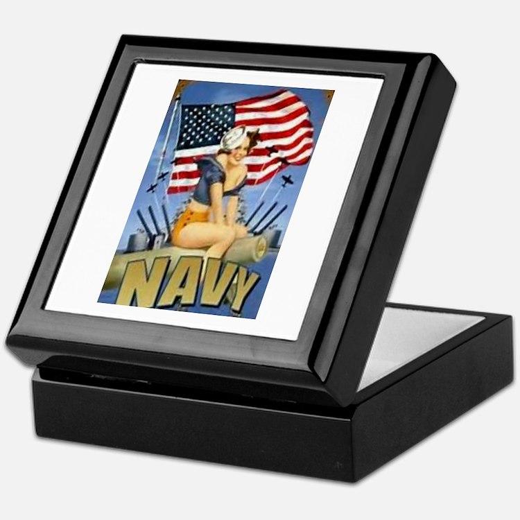 5 Military Pin Ups Keepsake Box