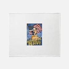 5 Military Pin Ups Throw Blanket