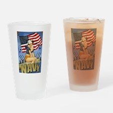 5 Military Pin Ups Drinking Glass