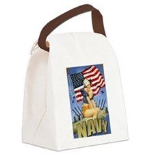 5 Military Pin Ups Canvas Lunch Bag