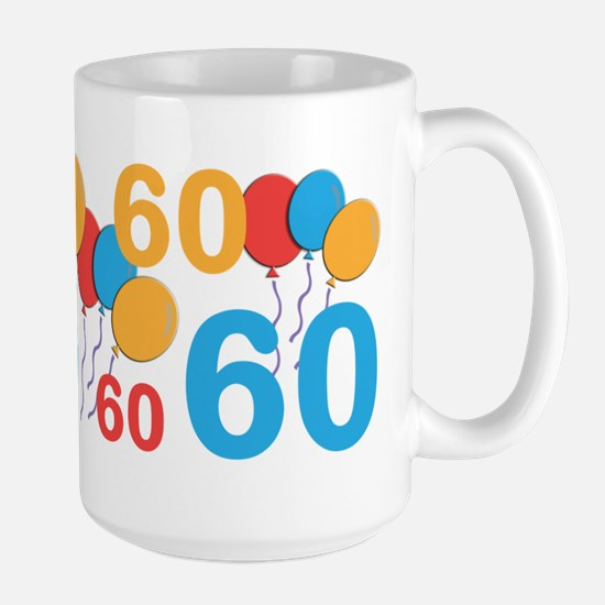 60 Years Old - 60th Birthday Large Mug