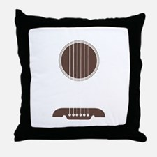 Guitar Strings Throw Pillow