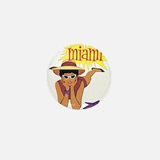 Vintage Miami Travel Mini Button