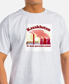 Kazakhstan Power -  Ash Grey T-Shirt