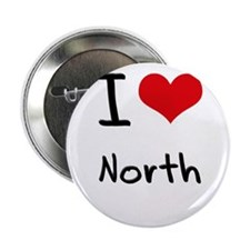"""I Love North 2.25"""" Button"""