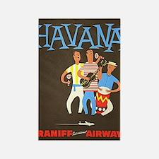 Havana, Cuba, Travel, Vintage Poster Rectangle Mag