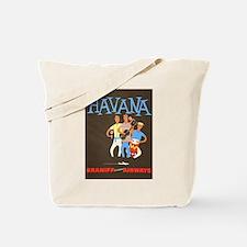 Havana, Cuba, Travel, Vintage Poster Tote Bag