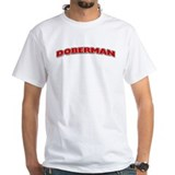 Dobermann Mens Classic White T-Shirts