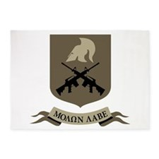 Molon Labe, Come and Take Them 5'x7'Area Rug
