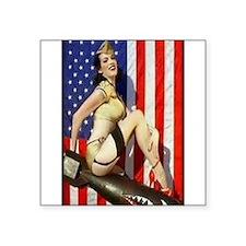 2 Military Pin Ups Sticker