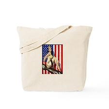 2 Military Pin Ups Tote Bag