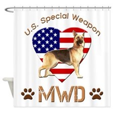 U.S. Special Weapon MWD Shower Curtain