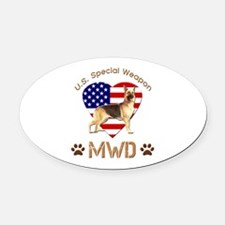 U.S. Special Weapon MWD Oval Car Magnet