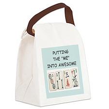 mahjomg Canvas Lunch Bag