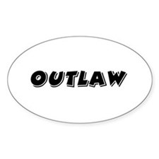 Outlaw Band Oval Decal
