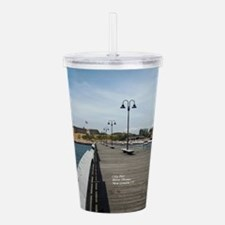 City Pier, New London, Acrylic Double-wall Tumbler