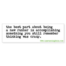 bestpartnewrunner Bumper Bumper Sticker
