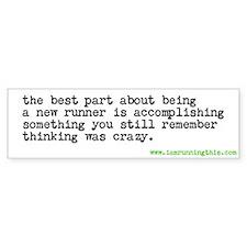 Cute Runners Bumper Sticker