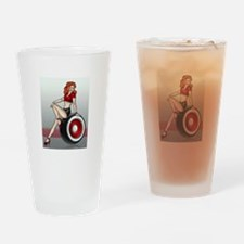 3 Military Pin Ups Drinking Glass