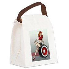 3 Military Pin Ups Canvas Lunch Bag