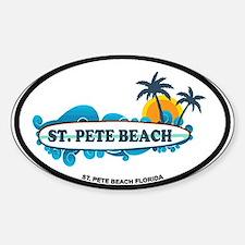 St. Pete Beach - Surf Design. Decal