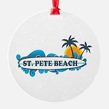St. Pete Beach - Surf Design. Ornament