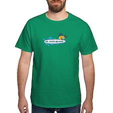 St. Pete Beach - Surf Design. T-Shirt