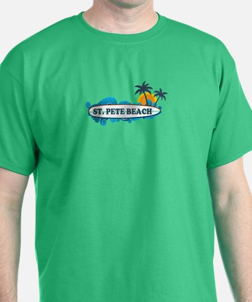 St. Pete Beach - Surf Design. T-Shirt