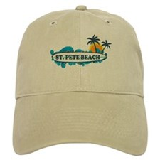 St. Pete Beach - Surf Design. Baseball Cap