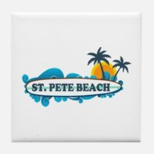 St. Pete Beach - Surf Design. Tile Coaster