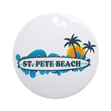 St. Pete Beach - Surf Design. Ornament (Round)