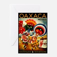 Vintage Oaxaca Mexico Travel Greeting Card