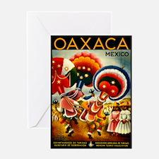 Vintage Oaxaca Mexico Travel Greeting Card